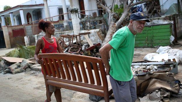 Afectados por el huracán Irma en Cuba. (EFE)