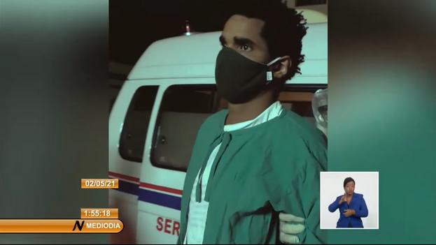 Otero Alcántara fue trasladado al Hospital Calixto García, en El Vedado, el pasado 2 de mayo. (Captura)