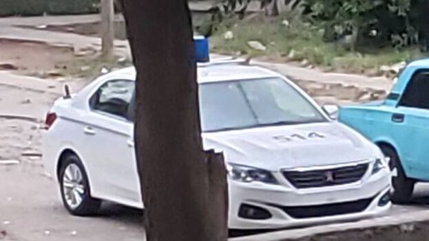 Amaury Pacheco publicó en su perfil de Facebook una fotografía de la patrulla. (A.P.)