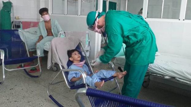 Este fin de semana había 71 niños ingresados en el hospital Ambrosio Grillo y otros 30 en el Pediátrico Norte. (Trabajadores)