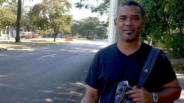 Ángel Moya asegura que fue rociado con spray pimienta durante el arresto. (Archivo/14ymedio)