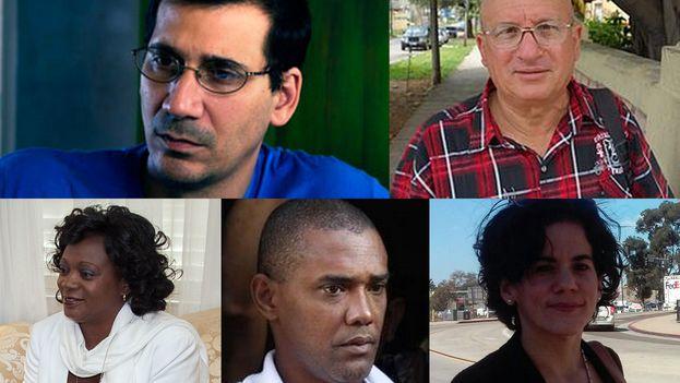 Antonio Rodiles, Félix Navarro, Berta Soler, Ángel Moya y Ailer González firman la hoja de ruta con propuestas para la nueva etapa entre EE UU y Cuba
