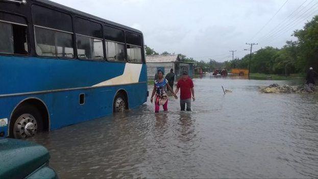 En Artemisa también se produjeron inundaciones costeras