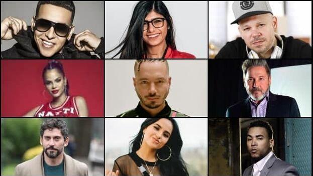 Artistas mundialmente reconocidos como Alejandro Sanz, Paco León, Ricardo Montaner, Daddy Yankee, Natti Natasha, Becky G, entre otros, compartieron en sus redes la etiqueta #SosCuba. (Collage)