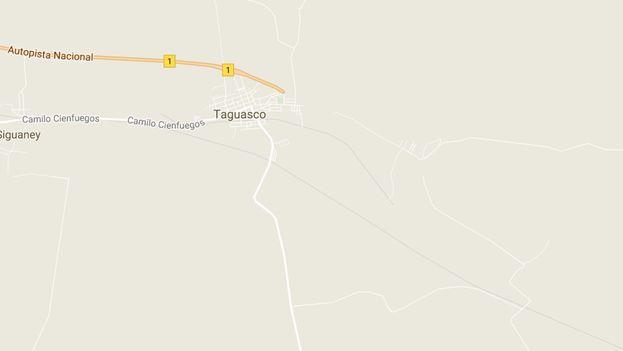 La Autopista Nacional termina abruptamente en Sancti Spíritus y los conductores deben incorporarse a la vieja Carretera Central. (Google Maps)