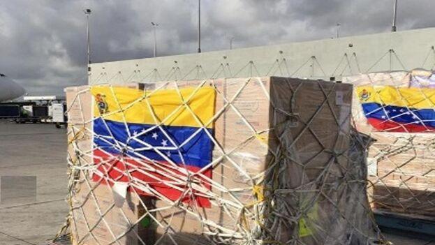 Ayuda humanitaria enviada a Venezuela. (Cortesía)