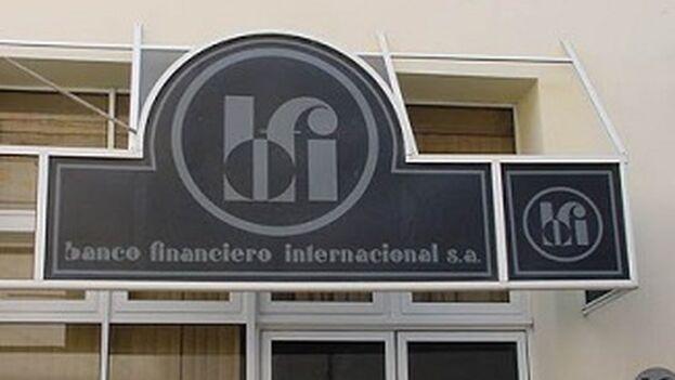 El Banco Financiero Internacional de Cuba ha entrado en la lista de entidades con las que queda prohibido realizar cualquier tipo de transacciones. Captura)