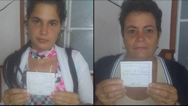 Las Damas de Blanco Sissi Abascal y su madre, Annia Zamora. (Facebook)