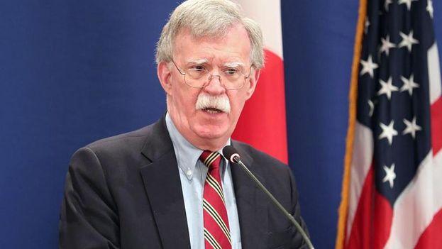 John Bolton pronunció un discurso en Miami sobre la política de EE UU hacia América Latina. (EFE)