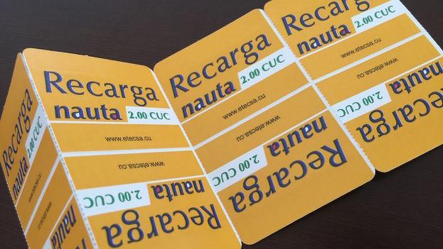 Bonos de recarga para Nauta. (14ymedio)