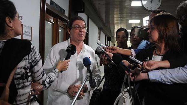 Bruno Rodríguez realizó estas declaraciones en los debates de las Comisiones del Parlamento. (Minrex)