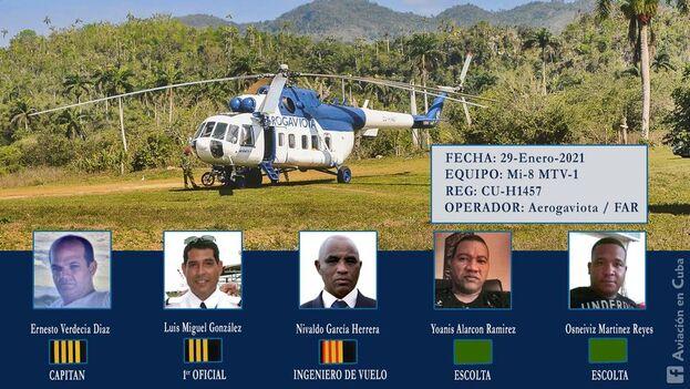 El helicóptero con matrícula CU-H1457 de Aerogaviota/FAR despegó del aeropuerto Frank País de la Ciudad de Holguín. (Facebook)