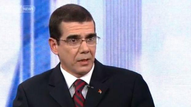 José Ramón Cabañas Rodríguez es jefe de la diplomacia cubana en EE UU. (Captura)