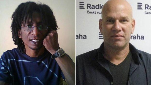 Los periodistas Rudy Cabrera y Augusto César San Martín (Cubanet)