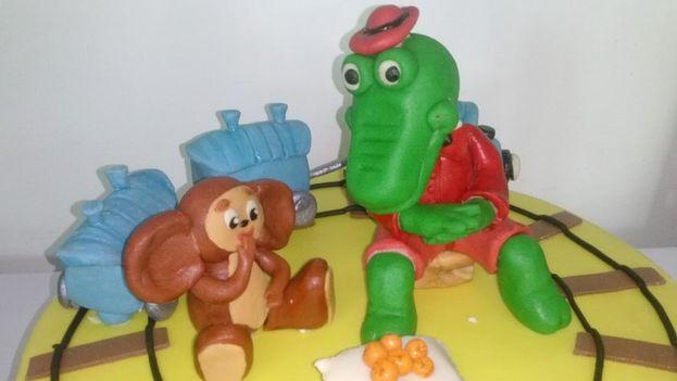 Para los nostálgicos de los dibujos animados rusos, Kirocake ha diseñado esta torta con la imagen de Cheburashka. (Kirocake)