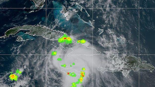 Este domingo en la provincia de Camagüey comenzaron los efectos de Elsa con Chubascos y tormentas eléctricas.  (NOAA)