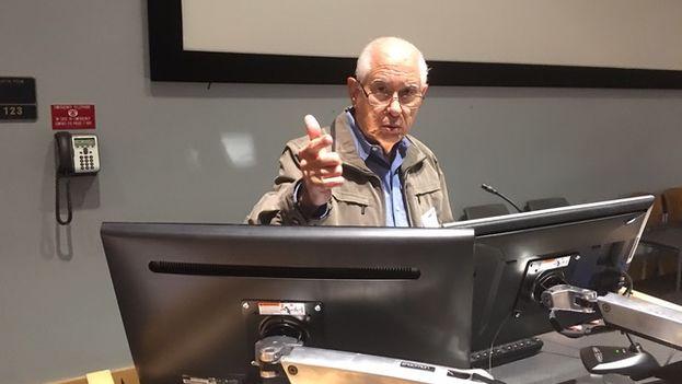 Carmelo Mesa-Lago durante su exposición en el encuentro de 'Convivencia'. (14ymedio)
