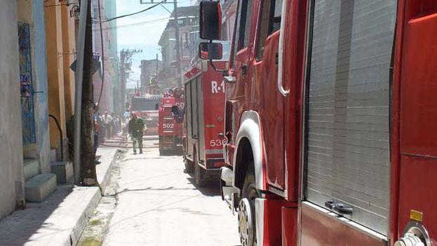 Carros de bomberos en Santa Clara. (CMHW)