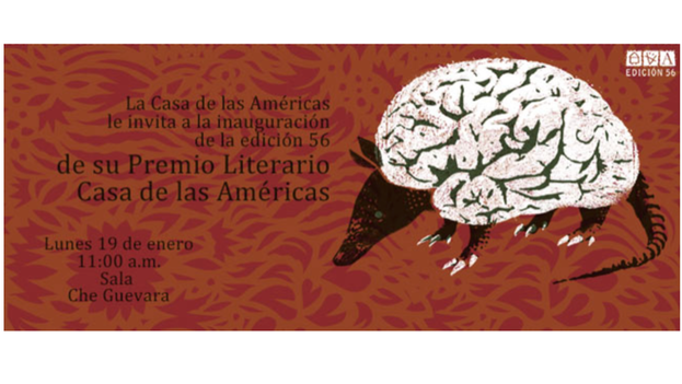 Cartel de la 56 edición de los Premios Literarios de la Casa de las Américas