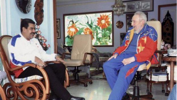 Castro y Maduro durante su encuentro este martes en La Habana. (EFE/Cubadebate)