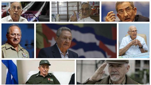 Varios de los miembros del nuevo Comité Central del Partido Comunista, anunciado al concluir su VII Congreso. (14ymedio)
