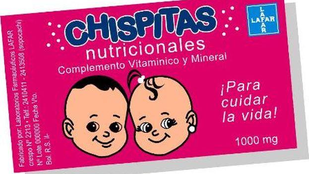 La mezcla de vitaminas y minerales en polvo Chispitas.