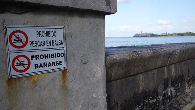Un proyecto a cargo del centro de investigaciones hidráulicas de la Ciudad Universitaria José Antonio Echeverría busca disminuir el daño ocasionado por el oleaje en el Malecón. (14ymedio)