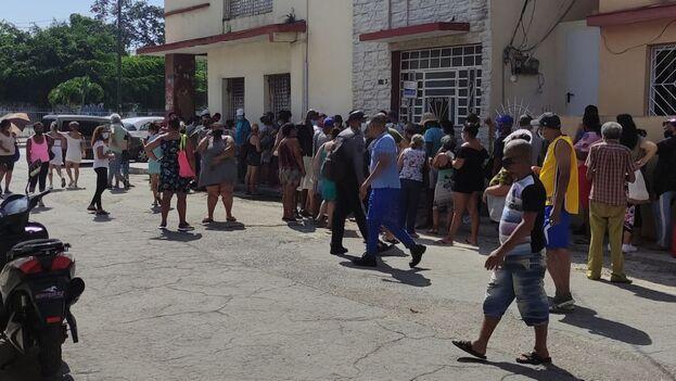 Cola para el aceite en La Habana. Durán insiste en el incumplimiento de las medidas de restricción como culpable de la propagación del covid en Cuba. (14ymedio)