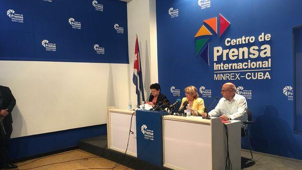 La Comisión Electoral Nacional hizo públicos los datos de participación en una rueda de prensa este lunes. (@Elecciones_Cuba)