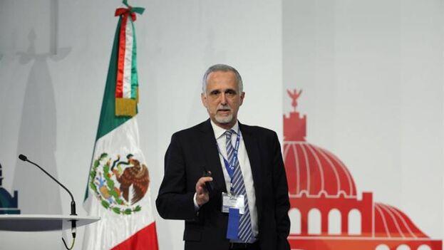 El presidente de la Comisión de Libertad de Prensa e Información de la SIP, el argentino Carlos Jornet. (EFE/José Méndez/Archivo)