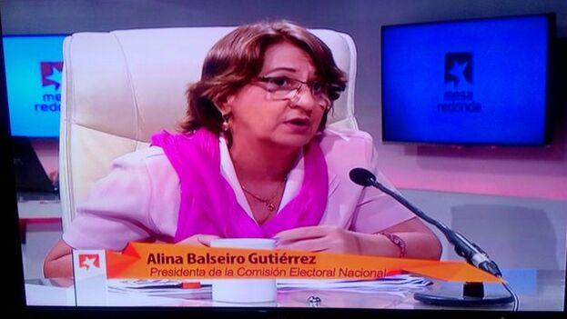 La presidenta de la Comisión Nacional Electoral ofreció ayer en la televisión los resultados definitivos