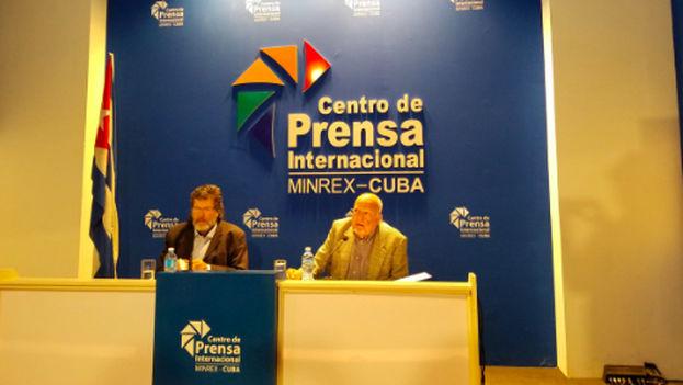 Conferencia de Prensa sobre IV Conferencia Internacional Por el Equilibrio del Mundo (Twitter/@MartianosCentro)