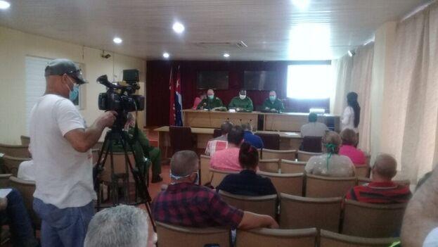 Consejo de Defensa Provincial de Ciego de Ávila, en su sesión de este domingo. (Facebook)