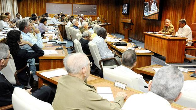 Consejo de ministros durante una reunion el pasado septiembre. (Juventud Rebelde)