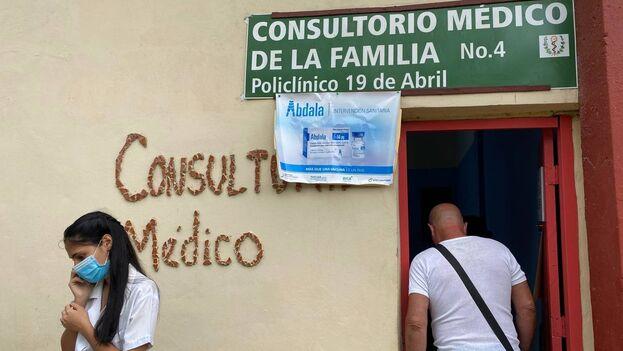 Consultorio de Nuevo Vedado, La Habana, donde se aplica el candidato vacunal Abdala. (14ymedio)