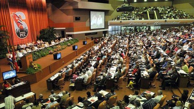 El Palacio de las Convenciones durante el VI Congreso del Partido Comunista de Cuba. (EFE)