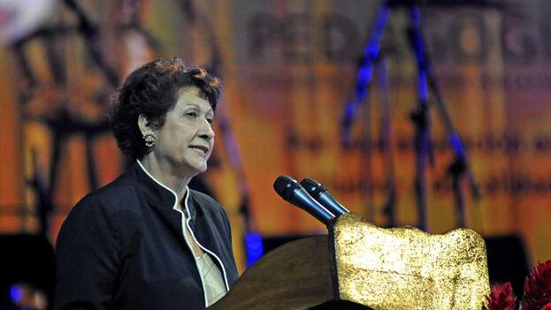 La ministra de educación de Cuba, Ena Elsa Velázquez Cobiella. (Twitter)
