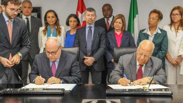 Cuba e Italia firmaron los acuerdos para la regularización de la deuda bilateral. (@cuba_en_italia)