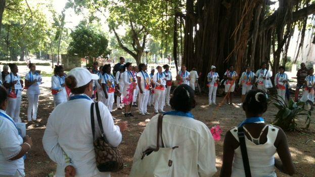 Damas de Blanco en el parque Gandhi el domingo 17 de enero de 2015. (Ángel Moya)