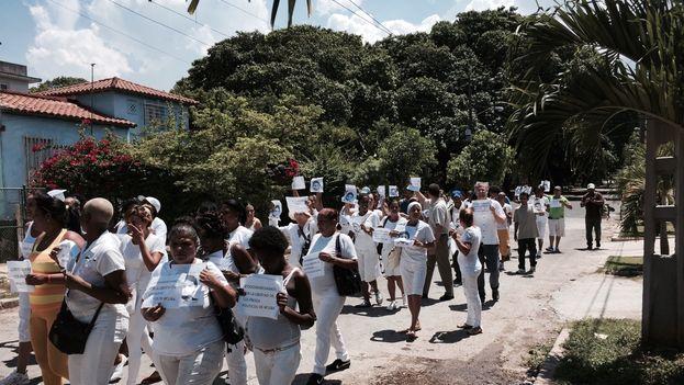 Damas de Blanco en La Habana.