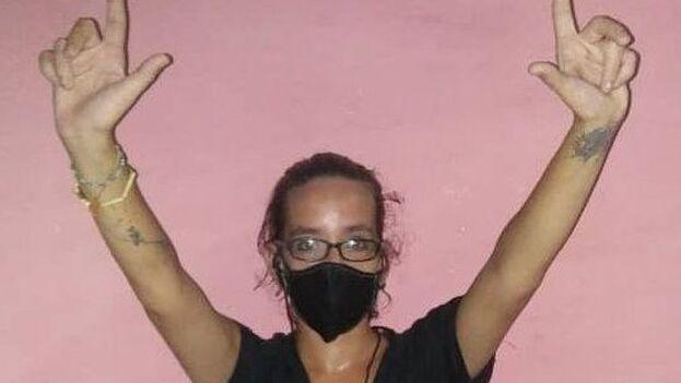 Daniela Rojo estuvo 23 de días en prisión por manifestarse pacíficamente el pasado 11 de julio. (Cortesía)