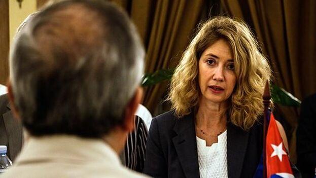 Katja Afheldt, jefa de la División México, América Central y Caribe del Servicio Europeo de Acción Exterior. (Cubadebate)