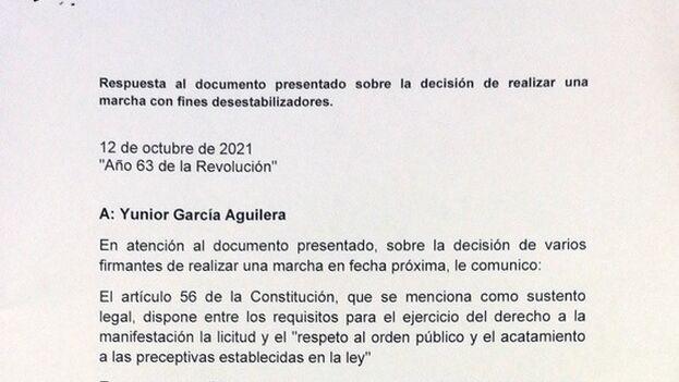 Documento emitido por el Consejo de la Administración de La Habana Vieja. (Cubadebate)