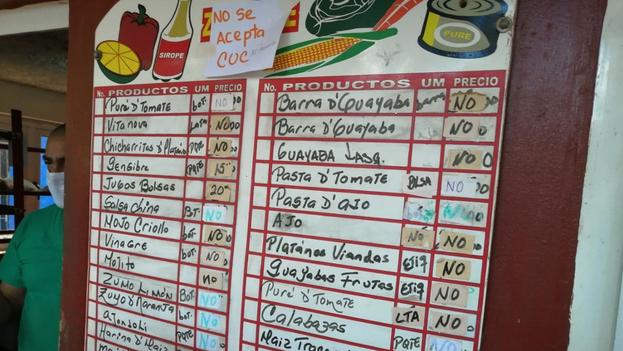 """En el mercado del EJT de la calle Tulipán en Nuevo Vedado, en La Habana, la palabra """"no"""" es la que reina. (14ymedio)"""