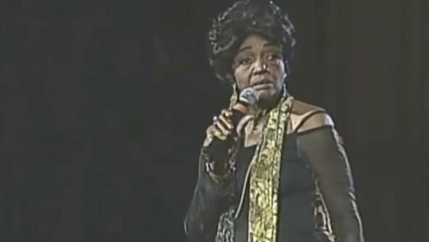 La cantante cubana Ela Calvo, fallecida este martes en La Habana. (Captura)