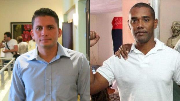 Eliécer Ávila, líder de Somos +, y Ángel Moya, exprisionero político en la Primavera Negra. (14ymedio)