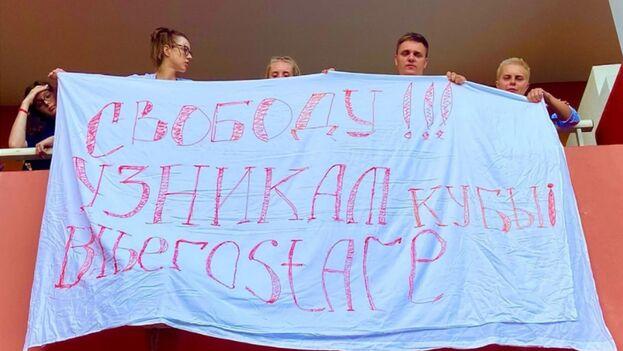 """""""¿La Embajada de Rusia en Cuba no tiene ni la autoridad ni la capacidad para ayudar a los rusos?"""", denuncian los turistas. (14ymedio)"""