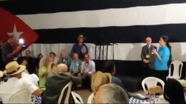 Rosa María Payá en la inauguración del Primer Encuentro Nacional Cubano, en Puerto Rico. (Facebook/ Orlando Luis Pardo Lazo/ captura de pantalla)