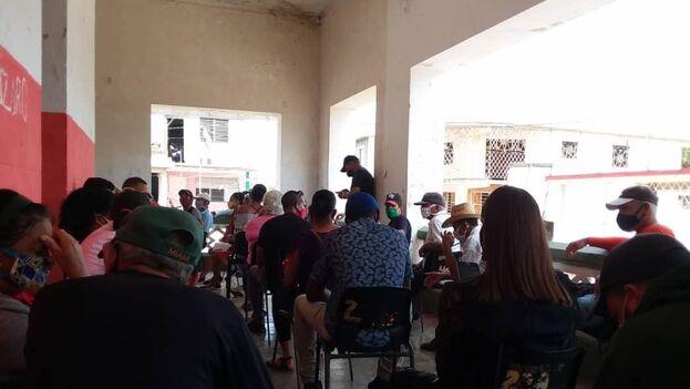 Escuela Gabino Labrador, de San Cristóbal, Artemisa, donde se lleva a cabo la vacunación con Sinopharm. (14ymedio)
