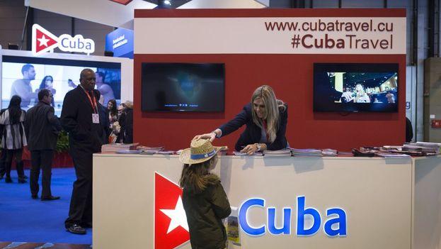 Estand de Cuba en la 37 edición de la Feria Internacional de Turismo Fitur 2017. (EFE)